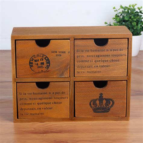 Retro Wooden Box With Drawer Phone Storage Shelf Vintage Retro Wooden Shelf Standing Storage