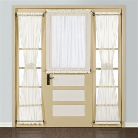 door with curtains door panel curtains