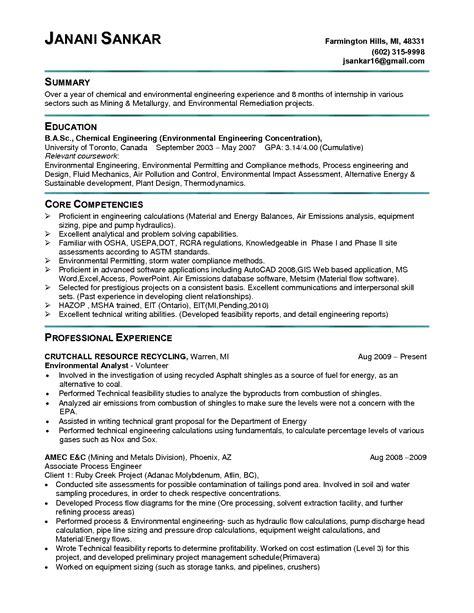 Be Chemical Engineering Resume / Sales / Engineering   Lewesmr