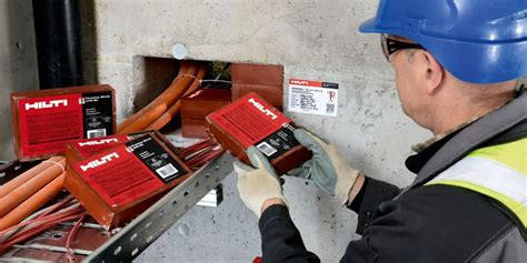 hilti cable tray firestop typical applications hilti usa