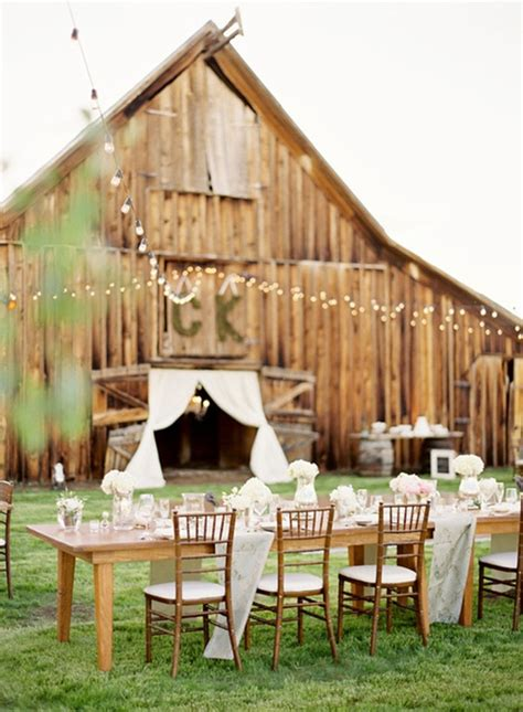 Outdoor Barn Wedding 6 wedding venues for rustic country wedding ideas