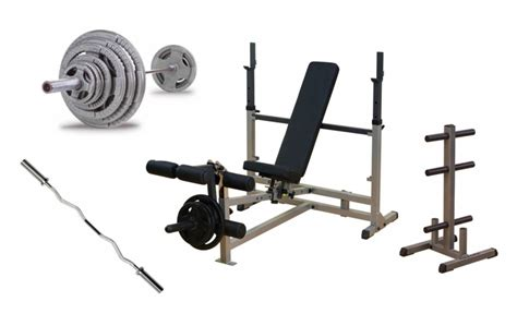 complete weight bench set body solid complete bench press package