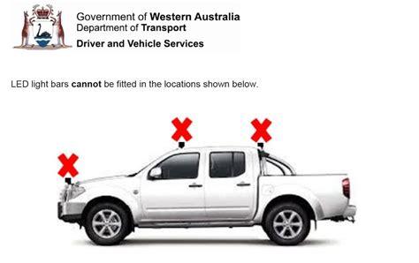 Car Lighting Laws In 4x4 News Led Light Bar Laws In Western Australia Pat
