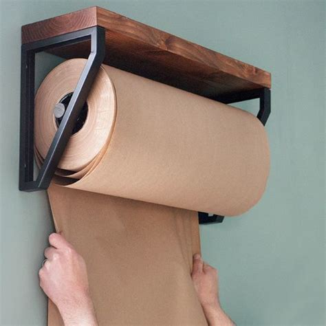 Craft Paper Roll Dispenser - make this kraft paper roll dispenser made diy