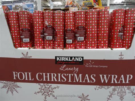 kirkland signature foil christmas wrap