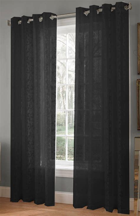 black lace curtains royale lace grommet curtains black lorraine view all
