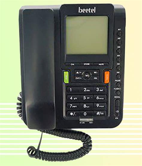 buy beetel  corded landline phone black
