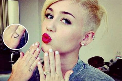 top 10 celebrity miley cyrus tattoos pictures sheideas