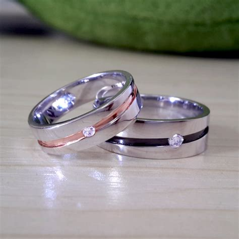 matching engraved promise ring bands for him by
