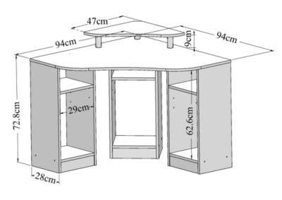 Commode D Angle 196 by Meuble Bureau Et Ordinateur Pas Cher But Fr