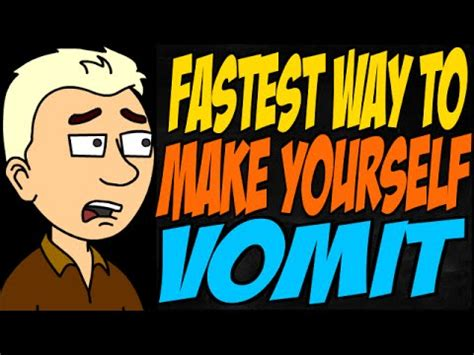 how to make a vomit fastest way to make yourself vomit