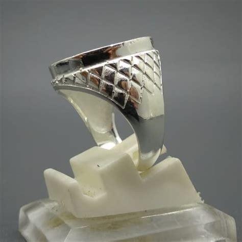 Dijamin Senter Batu Cincin Model Pulpen Silver cincin alpaka silver motif wajik pusaka dunia
