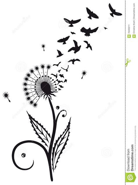 dandelion silhouette birds www pixshark com images