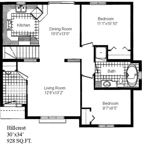 Cottage Company Floor Plans Hillcrest Sea Hawk Homes