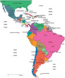 map of central and south america with capitals map of south america and central america