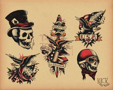old school tattoo ideas for men school flash 156 by calico1225 d2zroxv