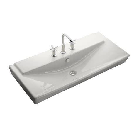kohler wall mount sink kohler reve wall mount ceramic bathroom sink in whites