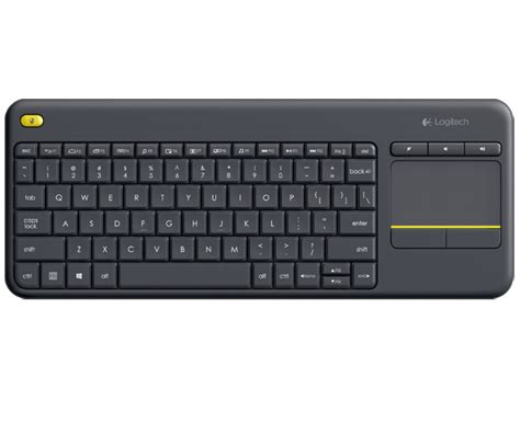 Keyboard Wireless Komputer logitech wireless touch keyboard k400 plus pc to tv en in