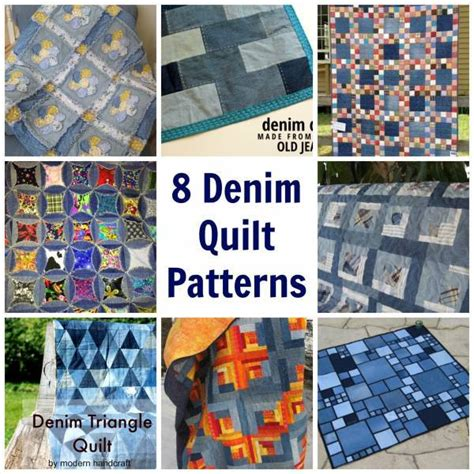 Block Home Plans by 8 Denim Quilt Patterns Quilting