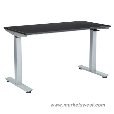 24 x 48 desk ascend pneumatic adjustable height desk with 24 quot x