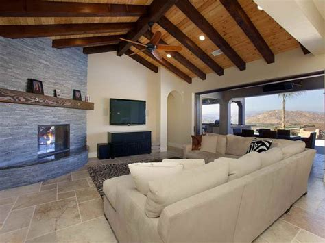 exposed beam living room design ideas with cathedral ceillings google