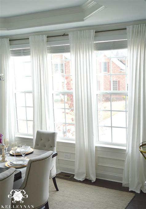 dining room curtain panels the favorite white budget friendly curtains