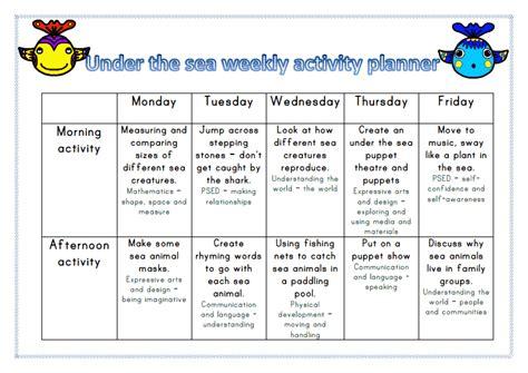under the sea themed activity planner week 3 mummy g