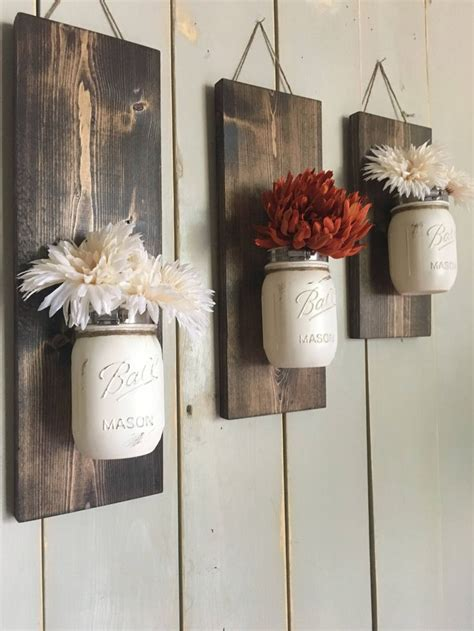 fall wall sconce individual mason jar sconce flower 1969 best create it images on pinterest old windows