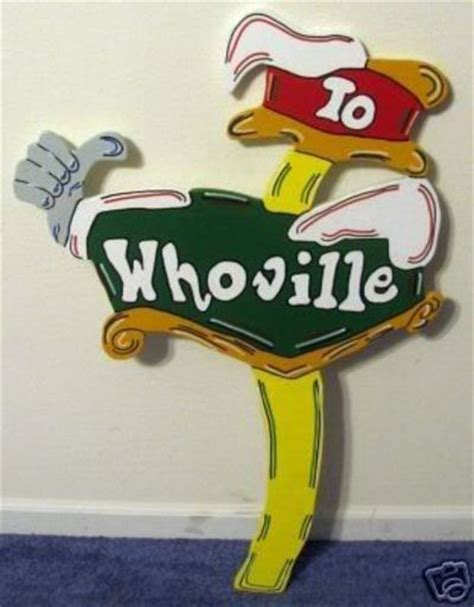 whoville sign whoville direction sign yard decoration