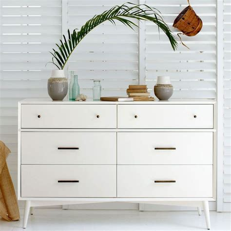 West Elm Bedroom Set by Mid Century 6 Drawer Dresser White West Elm Living