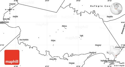 simple map of texas blank simple map of san patricio county