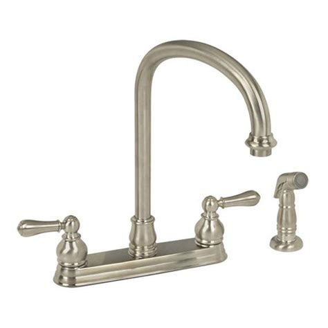 standard kitchen faucet ez flo impressions collection 2 handle standard kitchen