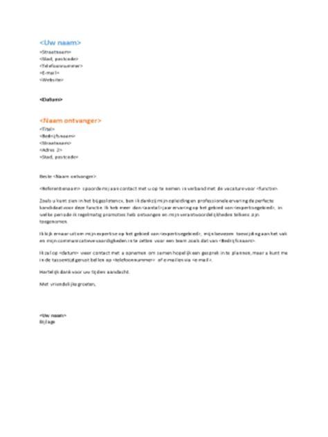 Cv Standaard Sjabloon Begeleidende Brief Bij Functioneel Cv Sluit Aan Op Het Functionele Cv Office Templates