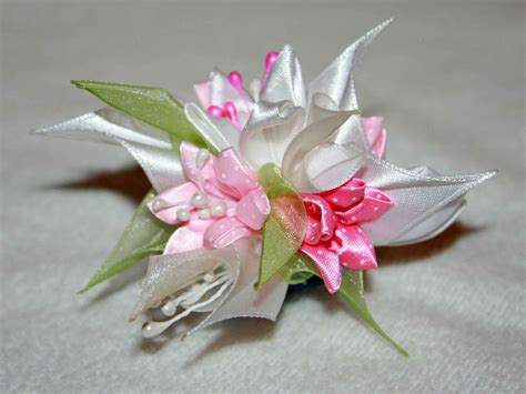 fiori di stoffa kanzashi hearband hair accessories kanzashi handmade flowers by