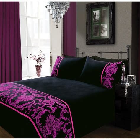 magenta bedding b m gt magenta double duvet set 296294