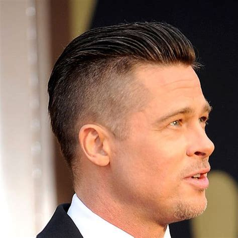 slick back hair shaved sides check out these tips to create brad pitt s newly shaved