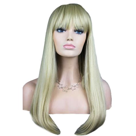 ebay wigs women s fashion wig curly hair wigs with bangs silver long