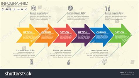 workflow graphics timeline infographics template arrows flowchart workflow