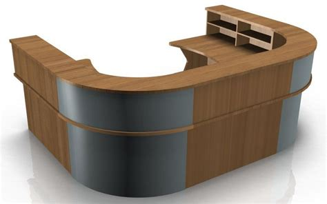u shape reception desk with k panel ends kompass