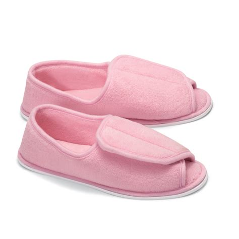 plush house slippers adjustable plush terry wrap house slippers by collections