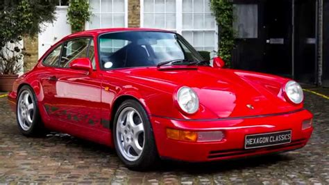 porsche 964 red porsche 964 rs hexagon classics youtube