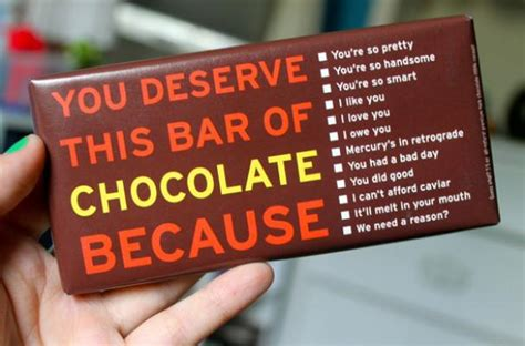 Because You Deserve It Shopbop Coupons by Foodista You Deserve This Chocolate Bar Is A Self