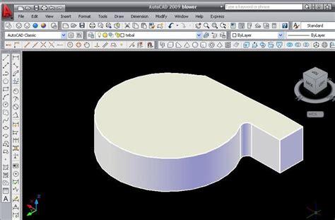 cara membuat gambar 3d autocad 2011 inilah blog saya menu shell untuk melubangi obyek 3d