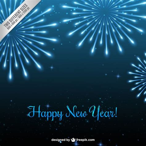 blue new year blue new year fireworks background vector free