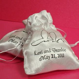 Wedding Favors Bags by Personalized Satin Favor Bag Wedding Favors