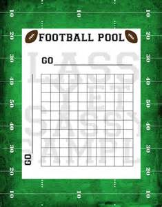 Free Bowl Pool Templates by Sle Football Pool 7 Documents In Pdf Word Excel