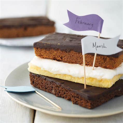 3 slice cake three months cake slice club by the cake nest