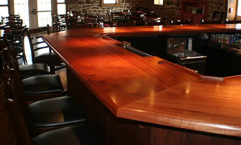 Wood Kitchen Bar Top Mahogany Wood Bar Top By Grothouse Traditional Kitchen