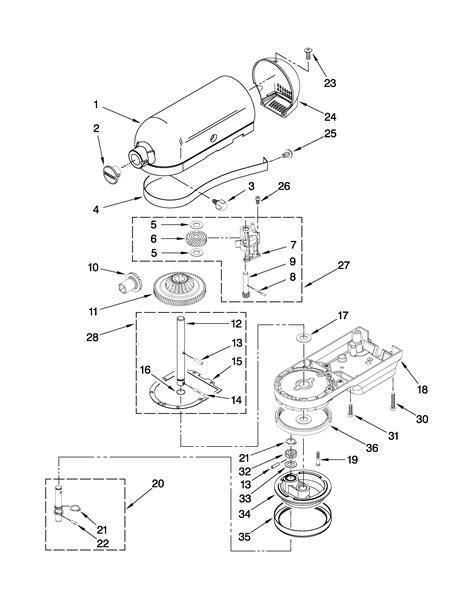 kitchenaid mixer parts diagram addition kitchenaid