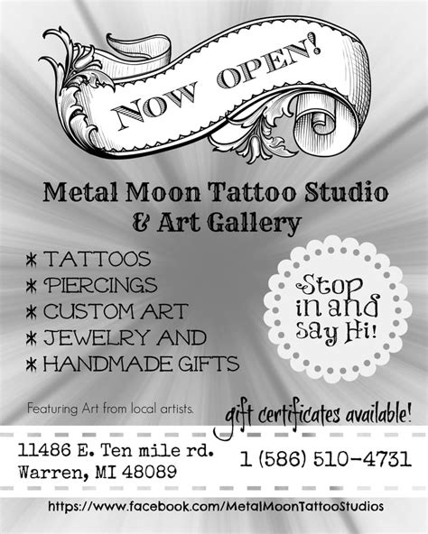 metal moon tattoo now open yelp